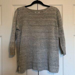 Madewell Heathered Ferry Linen Sweater